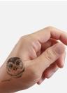 Moda Animal Impermeable Tatuaje Pegatinas Lobo Araña Búho Gato Caballo Cervatillo Cuerpo Arte Tatuaje Patrón