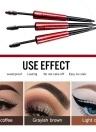 Fexport 2in1 Rotating Eyebrow Pencil Doble cabeza impermeable de larga duración 24 horas Pigmento natural Brown Eye kit de ceja F6107 # 02 Grayish Brown