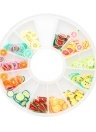 12 Grids 3D Nail Art Colorful Polymer Clay Fruit Flower Slices DIY Design Charm Summer Style Decorations Accessories Kits