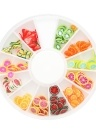 12 Grilles 3D Nail Art Coloré Polymère Argile Fruit Fleur Tranches DIY Design Charme D'été Style Décorations Accessoires Kits