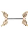 Las alas del ángel de la joyería anillo de la barra Nipple Barbell acero inoxidable Escudo Perforación del cuerpo para hombres y mujeres