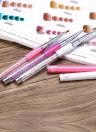 3pcs Nail Art Gel UV Builder pincel chato Nylon cabeça da escova Nail Art Salon Pen Rhinestone Acrílico Handle Ferramentas do prego DIY
