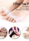 1 Pair Toe Pads Forefoot Cushions Toe Protector Foot Protection Open-toed Toe Protective Cover Pads Toe Care Tool