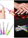 5pcs Colorful Glass Crystal Nail File Nail Art Care Tool Nail Sanding Buffing Tool Manicure Nail Polishing Nail Tool