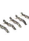 Anself Crocodile  5Pcs Grip Zebra Plastic Sectioning Hair Clip