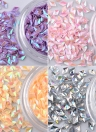 Rhombus Rhinestone Shiny Diamond Crystal Nail Art Decorações DIY Beauty Nail Tip Glitter 3D Acessórios para jóias