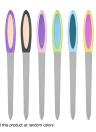 Fichier à ongles double face à 3 pcs Fichier à ongles en acier inoxydable Outil de polissage au ponçage