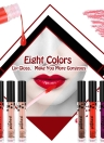 Popfeel 8 couleurs Liquid Waterproof Long Endurance Maquillage Lady Lip Gloss Tint