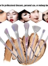 7Pcs Makeup Brushes Set Cosmetic Brush Kit for Eyeshadow Foundation Blush Powder Concealer Nylon Hair Gradient Color Handle