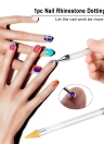 1pc Rhinestone Dotting Pen Nail Dotting Tool Double Different Head Tips Beads Picker Wax Pencil Handle Manicure Tool