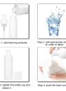 1pc 150ML(5.2oz) Foam Bottle Mousse Soap Foaming Pump Bottle Plastic White Empty Refillable Portable Travel