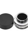 3 unids / set Set de Maquillaje Eyeliner Líquido Tinta Delineador de Ojos Sellos Angular Cepillo Kit de Cosméticos Impermeable Negro