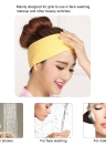 1 Pc Soft Headband for Girls Makeup Face Washing Shower Turban Head Wrap Headwear Towel Fabric for Salon Home Use Random Color