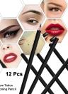 Eyebrow Tattoo Pencil Microblading Permanent Makeup Eyebrow Line Design Positioning Pencil Waterproof