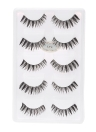 5 Pairs Natural False Eyelashes Long Thick Fake Lashes 3D Extension Eyelash Soft Handmade False Eyelash