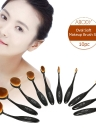 10PC Abody Oval maquillaje suave cepillo conjunto cosméticos cepillo de cepillo de dientes base cosméticos en polvo Blush Kits maquillaje profesional herramienta