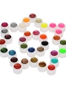 12pcs Mix Colors Glitter Powder UV Gel Nail Art Gel Set