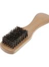Hombres Barba cepillo cerdas de jabalí bigote afeitar peine cepillo facial mango del cepillo de pelo largo Haya