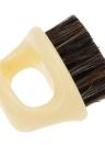 Brosse à barbe pour hommes Cheveux naturels à cheval Brosse à raser à moustiques Poignée ABS Brosse à cheveux pour le visage