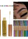 10 Colors Glitters Eyeliner Makeup Women Shiny Long Lasting Eye Liner Cosmetic Eyeshadow Tool Waterproof Shimmer Pigment Liquid HANDAIYAN