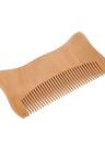 Pente de cabelo de madeira Pente de barba do homem Anti-estático Pêlo facial masculino Mini pente de barba Pente de massagem de madeira