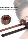 Pelo peluca sintética francés torcedura donut brote cabeza de pelota bola de pelo Braider DIY pelo herramienta