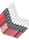 Popfeel 12Pcs / Set labios láser doble labial Gloss + Transparente Lápiz aceite impermeable de larga duración 12 colores