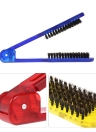 Hair Straightener Brush V Shape Hair Comb Folding Hair Straightening Brush Salon Hair Styling Tool Random Color