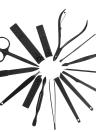 Ensemble de manucure et pédicure en acier inoxydable 15pcs Kit de voyage et toilettage pour clous avec étui de rangement