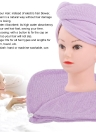 Quick Dry Hair Drying Towels Water-Absorbent Hair Cap Bath Shower Wrap for All Hair Types and Lengths Random Color