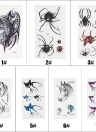 Fashion Waterproof Animal Tattoo Stickers Wolf Spider Owl Cat Horse Fawn Body Art Tattoo Pattern