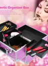 Foldable Cosmetic Lockable Stand Jewelry & Nail Art Tools Caixa de armazenamento