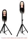 Hairdressing Tripod Hair Wig Training Head Mold Holder Stand