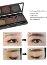 Abody 3 Colors Eyebrow Powder Shadow Palette Eyeliner with Brush Mirror