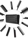 Sostenedor de la caja de tijera de pelo de peluquería bolsa de Peluquería Salón de la bolsa para el estilista Negro