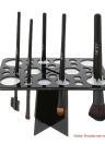 Rectangle Brush Holder séchage Cosmetic rack 28 trous Brush Storage Organizer Pinceaux Shelf Noir Acrylique séchage Tour