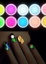 10pcs decoración Gel polvo luminoso Sands manicura del polvo de uñas