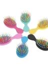 Mini escova de cabelo pente-íris Dentes Volume Airbag Anti-estático Detangling Hairbrush cores aleatórias Scalp Massagem