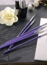 7pcs Dotting Gradient Painting Purple Acrylic Handle Nail Brush