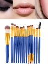 15PCS Professional Eye Shadow Eyebrow Lip Makeup Brush Tools Design en laine Pinceau Maquillage Professionnel