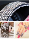 Shiny Strass Crystal Crystal Rhinestones Mixed Non Hotfix Round Decalques 3D Nail Art Flatback