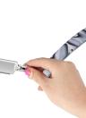 Plegable navaja de afeitar recta Edge Barber afeitar navaja de afeitar de un solo borde herramienta de afeitar Barber Tool sin hoja con bolsa de PU