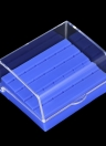 Nail Drill Bit Holder Dental Bur Stand Organizer Container Displayer Transparent Cover Plastic Nail Dental Accessory 24 Holes