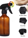 2Pcs 8 oz Spray Bottle Empty Glass Fine Mist Atomizer Salon Hairdressing Sprayer Flower Planting Tool with 2 Bottle Caps
