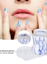 4cm Nail Stamper Nail Art Clear Stamp Jelly Stamp Scraper Set Polish Stamping Manicure Tool Stamp Scraper Set
