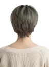 """12 """"peluca de pelo corto y recto pelucas peluca de fibra de color sintético de fibra sintética Cosplay peluca de fiesta diaria con tapa para mujeres YJJ125-1"""