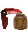 1pc Pieghevole pettine per capelli Spazzola per capelli portatile da viaggio Pettine per capelli Pieghevole in plastica Districante Spazzola per capelli antistatica