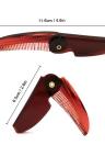 1pc faltbare Haar-Kamm-bewegliche Reise-Haar-Bürsten-Haar-Kamm-Plastik-faltendes Detangling antistatische Haarbürste