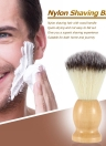 Men's Nylon Shaving Brush with Wood Handle for Beard Professional Male Razor Facial Brush Face Cleaning Tool Yellow