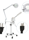 2 in 1 Facial Steamer & 5X Magnifying Lamp UV Ozone Steamer Machine